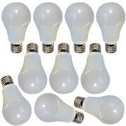 10 Pçs de Lâmpada de LED econômica 9w bulbo Bivolt soquete padrão E27