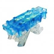 10 Peças de Conector Linear 101 - E com gel azul cot0001