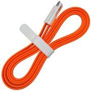 10 unidades Cabo USB com imã achatado 1,2M para LIGHTENING IPHONE - LARANJA EXB5040