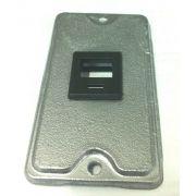 """10 Unidades de Espelho para condulete 3/4"""" Polegada P/ 1 Rj45 em Aluminio"""