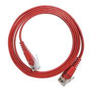10 Unidades de Patch Cord Flat Cable RJ45 Gigabit Cat6 1m Vermelho