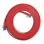 10 Unidades de Patch Cord Flat Cable RJ45 Gigabit Cat6 3m Vermelho
