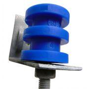 10 Unidades Suporte DMP Completo c/ Parafuso PR60 e Roldana de PVC 2 canais AZUL REX0073