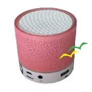 Caixa de som Bluetooth com iluminação Led CS-A12BT - Rosa