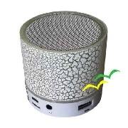 Caixa de som Bluetooth com iluminação Led CS-A12BT - Branca