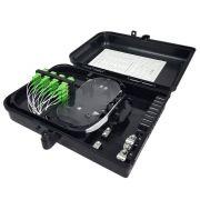 12 Unidades de Caixa CTO Lisa Completa com Splitter 1x16 SC APC Verde