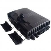 16 Unidades Caixa CTO Lisa Completa com Splitter 1x8 SC APC Verde