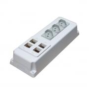 16 Unidades de Caixa de Elétrica e Dados branca