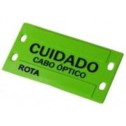 180 unidades de Plaqueta de Identificação Óptica Verde plástica em alto relevo
