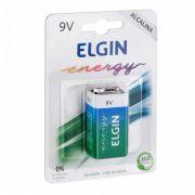 20 Unidades de Bateria Alcalina 9v Elgin 6LR61 ELG0011