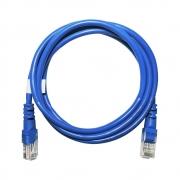 25 unidades de Patch Cord Cat5e 100% Cobre Homologado Anatel 1,5m Azul