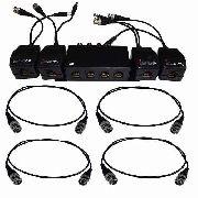 KIT LIV Módulo Essential - 4 canais para sistema CFTV c/ Alimentação centralizada