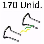Anel De Distribuição P/ Fio Fe Em Poste Agfe Kit Com 170 Pç