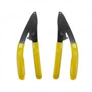2 Peças de Decapador de Fibra Óptica 3 furos Amarelo CFS-3
