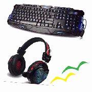 KIT TECLADO BK-G35 + FONE HEADSET GAMER GH-X30