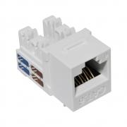 30 Unidades de CONECTOR FÊMEA SOHO PLUS CAT.6 T568A/B – BRANCO – ROHS