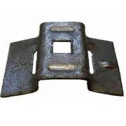 40 Peças Suporte para abraçadeira BAP galvanizado Furo 14mm
