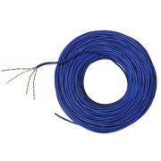 50 metros Cabo de Rede UTP 4P x24 AWG Cat5e CMX Azul - Nexans NEX0005