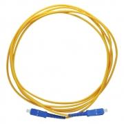 50 Peças de Cordão Óptico Simplex SM SC-UPC/SC-UPC (9/125) -  2m