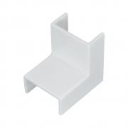 50 Unidades de Acabamento para Canaleta Cotovelo Interno 10x20mm Branco - ILUMI