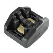 50 Unidades de Cabeça Autotravante P/ Fita Plástica - Preto