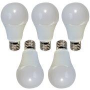 5 Pçs Lâmpada De Led 7w Bulbo Bivolt E27 - LAM0002