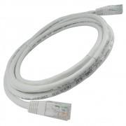 5 Unidades de Patch Cord Flexível Cat 5e 2,5m  - Branco