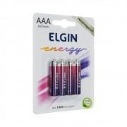 5 Unidades de PILHA RECARREGÁVEL AAA-1000 mAH-ELGIN (BLISTER C/4)