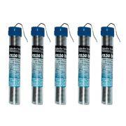 5 Unidades de Tubo de Estanho Para Ferro de Solda Best de 25 gramas x 1mm Azul