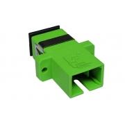 900 Unidades Acoplador Óptico Sc Apc Simplex Sm Verde P/ Fibra Óptica - AOS0002