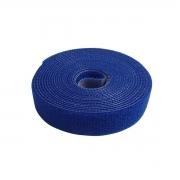 Abraçadeira Gancho e Laço Fita Dupla Face 3 Metros x 20 mm Azul