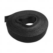 Abraçadeira Gancho e Laço Velcro Fita Dupla Face 3 Metros x 16 mm - Preto