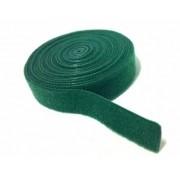 Abraçadeira Gancho e Laço Fita Dupla Face 3 Metros x 20 mm Verde