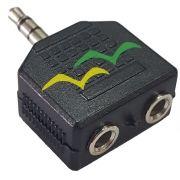 Adaptador Duplicador de Audio P2 35M / 2X35M Femêa