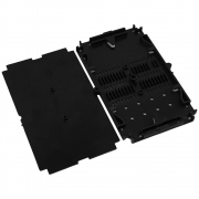 Bandeja plástica de emenda Preto 12FO universal p/ caixa de emenda e DIO