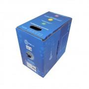 Cabo rede LAN UTP Cat 5e 4 pares x 24 AWG 100% cobre Preto caixa com 305 metros