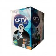 Cabo Premium para CFTV 4 Pares Preto 2 Flex - 305m