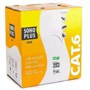 Cabo UTP Cat6 CMX Azul Furukawa Soho plus (caixa 305m)