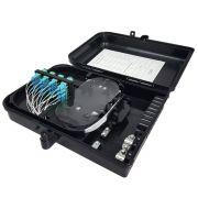 Caixa CTO Lisa Completa com Splitter 1x16 SC PC/UPC Azul
