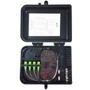 Caixa CTO Lisa Completa com Splitter 1x8 SC APC Verde