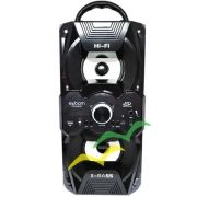 Caixa de Som Bluetooth 12Watts Torre Super Bass com visor SD/USB/FM e duas entradas p/ Microfone M267BT -PRETO - EXBOM