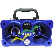Caixa de som Bluetooth com iluminação Led 6W CS-M223BT - AZUL - EXBOM