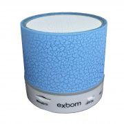 Caixa de som Bluetooth com iluminação Led CS-A12BT - Azul