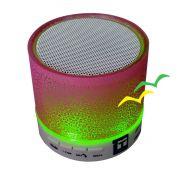 Caixa De Som Bluetooth Com Iluminação Led Cs-a12bt Rosa