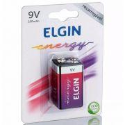Caixa Mãe Bateria Recarregável (9V) 250 MAH Elgin (Blister c/1)