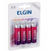 Caixa Mãe Pilha Recarregável AA-2700 Mah Elgin (Blister c/4)