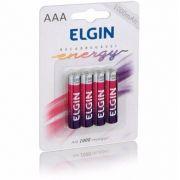 Caixa Mãe Pilha Recarregável AAA- 1000 Mah ELGIN (Blister c/4)