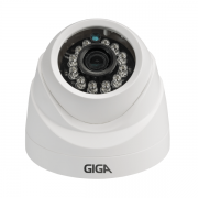 Câmera Dome Plast Orion 720p IR 20m 1/4 2.6mm- Giga Security  - GS0019