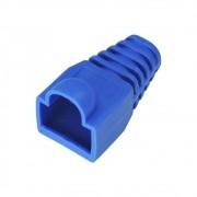 100 Peças Capa Cover Protetora Borracha Para Conectores Rj45 Tipo Boot Azul