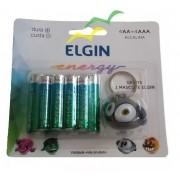 Cartela com pilhas Alcalinas (4 AA + 4 AAA) + 1Personagem